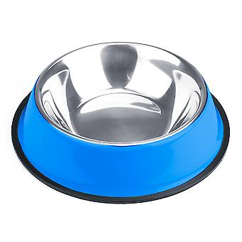 24oz. Blue Stainless Steel Dog Bowl