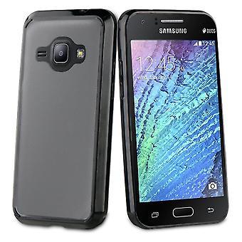 Hull For Samsung Galaxy J1 (2016) Black Contour Antihock