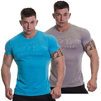 Golds Gym Mens Vintage Mono T-Shirt