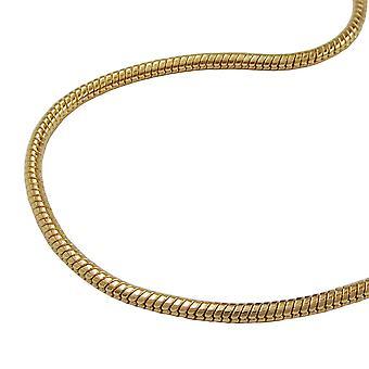 سلسلة سلسلة الذهب مطلية بالذهب ثعبان ثعبان مطلي 60 سم