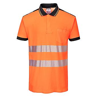 sUw - PW3 Hi Vis Workwear Short Sleeve Polo Shirt