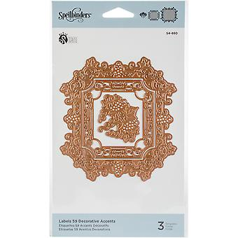 Spellbinders Shapeabilities Dies - Labels 59 Decorative Accents