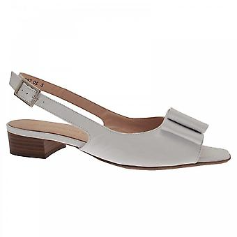 Peter Kaiser Aneta Weiß Patent Peep Toe Low Heel Sandale