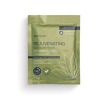 Beauty pro collagen infused facial mask - green tea (single)