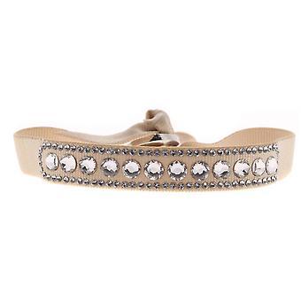 Bracciale intercambiabile A40129 - cristalli di tessuto Beige donna Swarovski bracciale