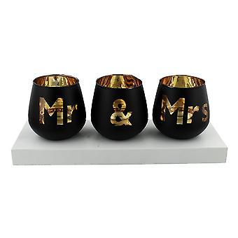 Widdop Bingham Always & Forever Tea Light Holder Mr & Mrs