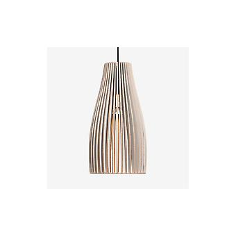 Iumi Ena L Large Cone Shaped Plywood Pendant Lamp - Grey