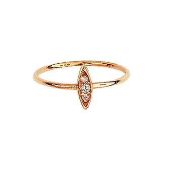 14k Rose Gold 0.05 Dwt Diamond Drop Marque Diamond Cluster Ring Jewelry Gifts for Women - Ring Size: 6 to 8