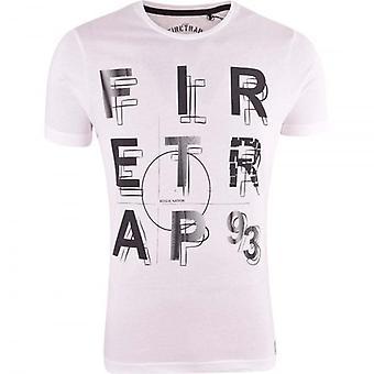 Firetrap Original Mens Designer Logo Print T Shirt Crew Neck Top Short Sleeve Tee
