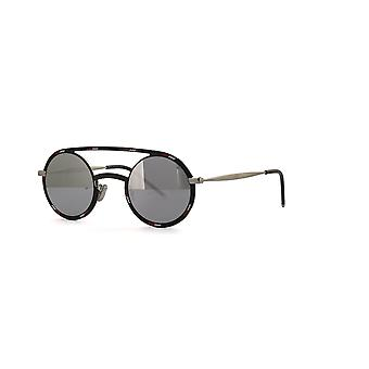Dior Homme Síntese 01 TAY/0T Preto Padrão Branco/Cinza-Prata Espelho Óculos de Sol
