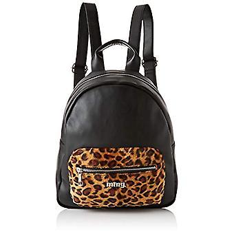 MTNG MTNGLANKA Women's Backpack BagBlack (Liso Neg/L E Op Cuero) 12x32x29 centimeters (W x H x L)