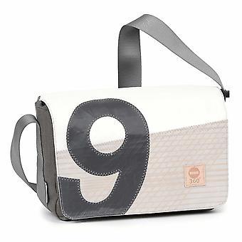 360 degree laptop bag 13 inches, messenger bag, cash box mini cross over shoulder bag Tweed Kevlar number grey canvas bag