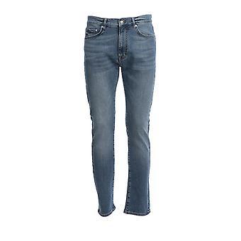 Iceberg 220460066001 Men's Blue Cotton Jeans