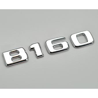 Silver Chrome B160 Flat Mercedes Benz Car Model Rear Boot Number Letter Sticker Decal Badge Emblem For B Class W245 W246 W247 AMG