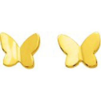 Gold Schmetterling Ohrringe 750/1000 gelb (18K)