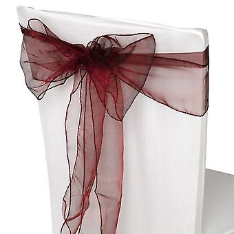 17cm x 274cm Organza Table Runners Wider & Fuller Sashes Burgundy