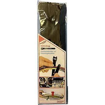 FASTECH® E1-2-330-B10 Krok-och-slinga kabelslips för buntning Krok och slinga pad (L x W) 200 mm x 13 mm Svart 10 st(er)