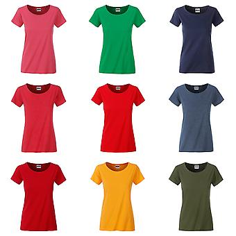 James and Nicholson Womens/Ladies Basic Organic Cotton T-Shirt