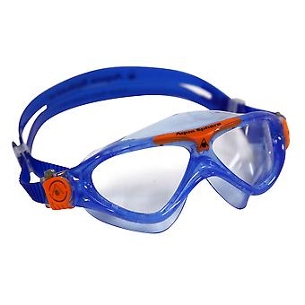 Aqua Sphere Vista Junior Swim Goggle - Clear Lens - Blue/Orange Accent