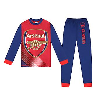 Arsenal FC officiella Fotboll Gift Boys Sublimering Lång Pyjamas