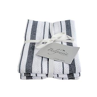 Stow Green Belgravia Basket Weave Tea Towels, Grey