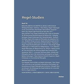 HegelStudien  HegelStudien Band 26 1991 by Pggeler & Otto