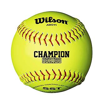"Wilson NFSHA A9011 Champion Series SST Softball Ball 12"" Yellow"