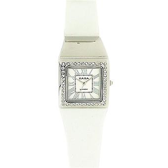 Zaza London Crystal Embedded White Dial Ladies Watch LLB861