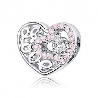 Sterling Silver Charm Beautiful Love - 6345