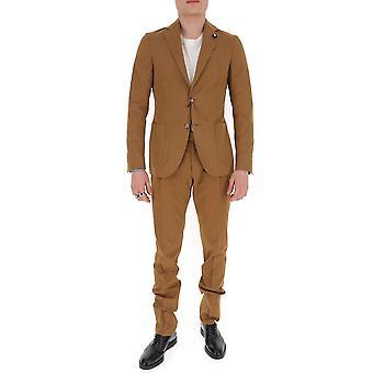 Lardini Ei079aeia544262 Men's Brown Cotton Suit
