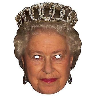 Queen Elizabeth II Royal Single Card Party Fancy Dress Mask