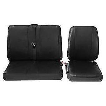 Assento comercial de van simples e duplo cobre Black - Opel Movano 1999-2010
