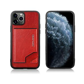 Pierre Cardin Cuir Backcover Case Avec Cardholder iPhone 11 Pro Max - Rouge