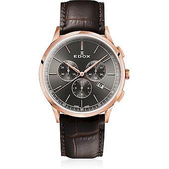 Edox - ساعة اليد - الرجال - Les Vauberts - كرونوغراف - 10236 37RC GIR