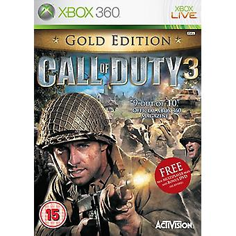 Call of Duty 3 Gold Edition (Xbox 360) - New