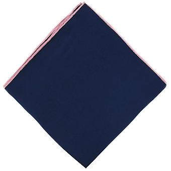 Michelsons of London Shoestring Border Handkerchief - Blue/Pink