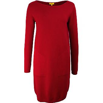 Yellow Label Red Fine Knit Dress