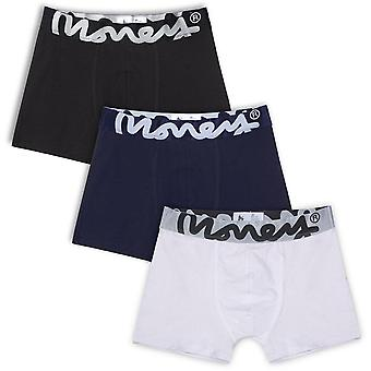 Logo d'argent 3 Pack Trunk Boxer Shorts Multi 98