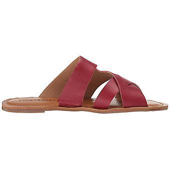 Lucky Brand naiset ' s Leelan Flat Slide Sandal, Garnet, 5,5 M US