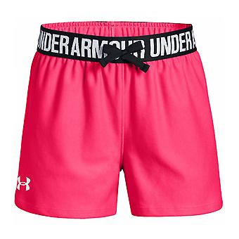 "Under Armour Play Up Kids Girls 5"" Exercise Fitness Training Short Pink"