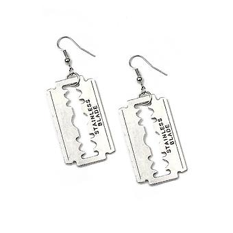 Attitude Clothing Razor Blade Drop Earrings