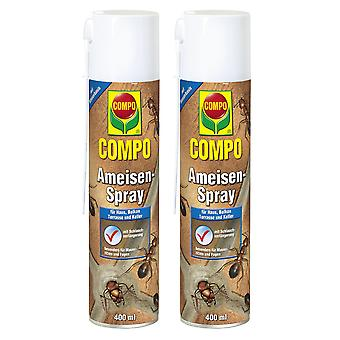 Sparset: 2 x COMPO Ants Spray, 400 ml