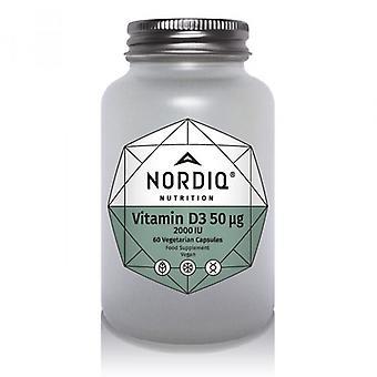 NORDIQ Nutrition Vitamin D3 50µg 2000iu Capsules 60