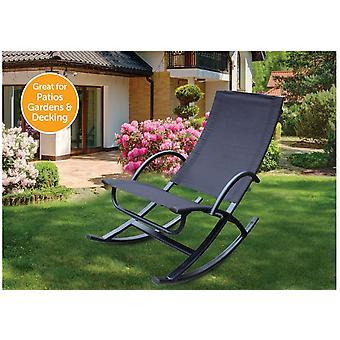 Starmo Garden Chair Sun Gravity Rocker Lounger Patio Beach Chair Deck Outdoor