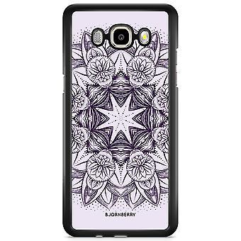 Bjornberry Shell Samsung Galaxy J3 (2016) - Purple Mandala