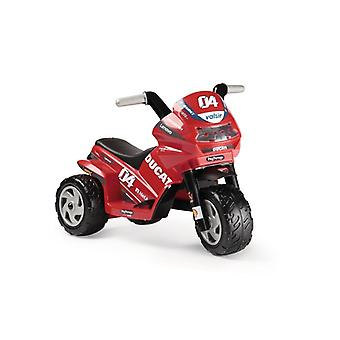 peg perego red mini ducati evo 6v electric trike