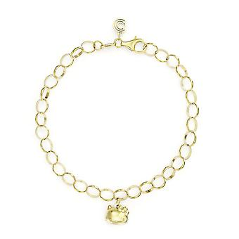 Hello Kitty 18ct Gold Plated Vermeil Single Charm Bracelet