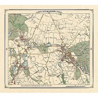 Accrington 1849 Map by Peter J. Adams - 9781905718313 Book