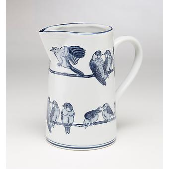 AA Importing 59838 Blue And White Pitcher