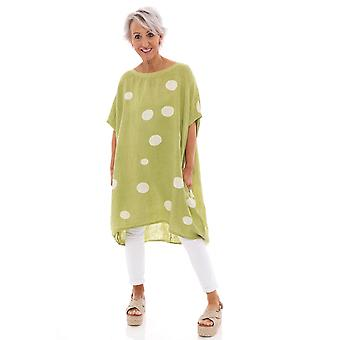 Made In Italy Turin Spot Linen Tunic